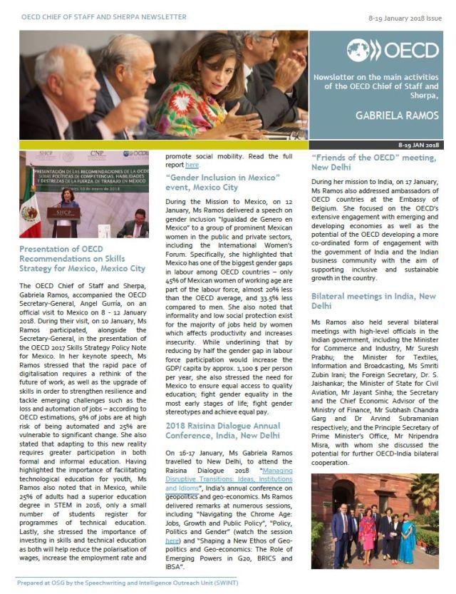 gabriela ramos newsletter